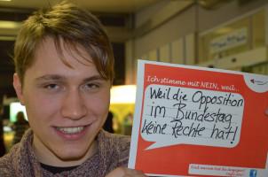 ... die Opposition im Bundestag keine Rechte hat!