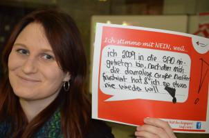 ... ich 2009 in die SPD eingetreten bin, nachdem mit die damalige GroKo frustriert hat und ich so etwas nie wieder will!