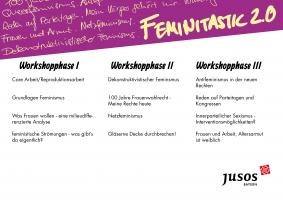 Unser Workshopangebot auf der Frauen*konferenz 2018