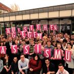 Solidaritätsfoto Aufstehen gegen Rassismus